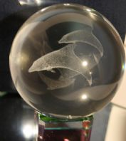 Dolphin Laser Crystal Ball